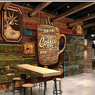 Sdefw Custom 3D Mural Photo Wallpaper Hd Hand Painted European Vintage Coffee Shop Restaurant Wallpaper Wall Paper-336X238Cm
