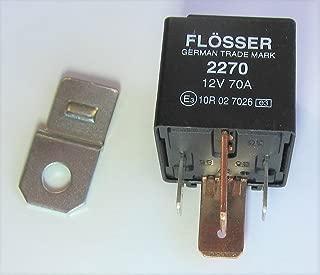 4 Prong 70A Relay 12V 70 Amps for Audi/VW/Volvo/Mercedes/Saab/GM, Flosser 2270