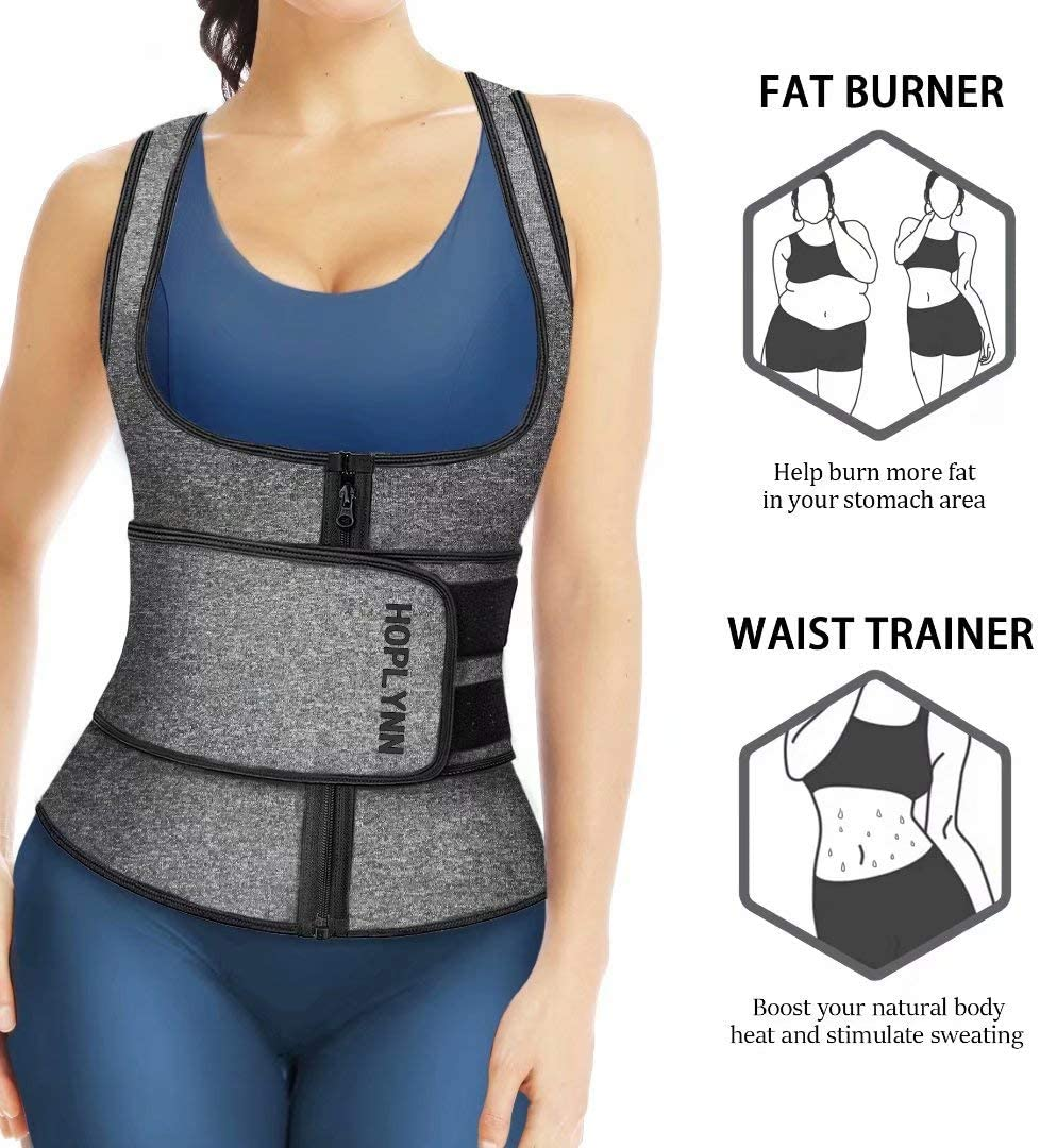 High Quality Double Layer Women Multi Function Zip Waist Trainer Corset Top Vest