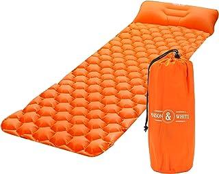 Colchón hinchable portátil ultraligera | Colchón inflable | Colchoneta Ligera | Cama inflable de exterior con estuche | M&W