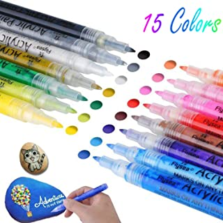 Acrylic Drawing Marker Paint Pens for Wood, Glass, Rock Painting, Paper, Mugs, Ceramic, Fabric,...