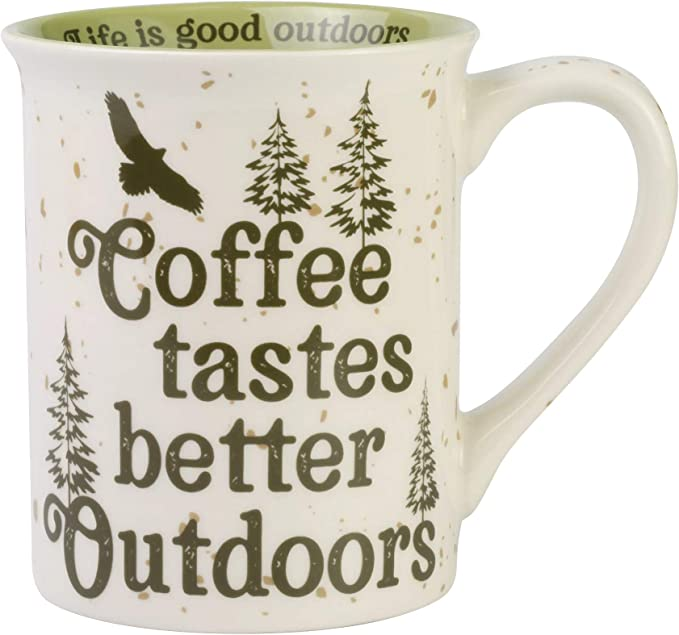 Enesco Our Name is Mud Everything is Better Outdoors Coffee Mug