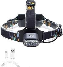 Opladen LED Outdoor Koplamp, IP54 Waterdicht, 18650 Grote Capaciteit, 2000 Lumen, Geschikt Voor Grotten, Camping, Patrouil...