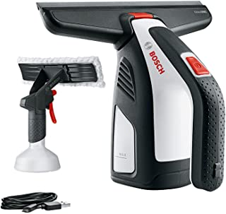 Bosch GlassVAC Cordless Window Vac Solo Plus (Window Vac + 266 mm Blade Head and Spray Applicator with Microfibre Cloth)