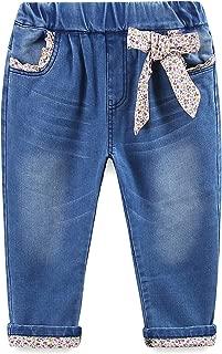 Mud Kingdom Little Girls Jeans Floral Denim Pants Flower