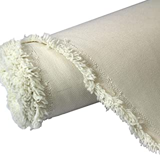 Waterproof Canvas Fabric Outdoor 600 Denier Indoor/Outdoor Fabric by The Yard PU Backing W/R, UV, 2times Good PU Color : Ivory 1 Yard