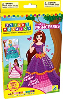 Orb Factory orb72377 – Craft Glitter Princess – Sticky Mosaics Sticky Numbers
