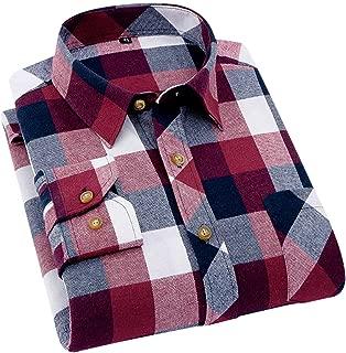 メンズ シャツ 長袖 チェックシャツ ボタンダウン 綿 ワイシャツ 折襟 カジュアル 柔らかい おしゃれ 大きいサイズ NEW