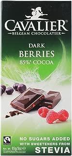 Cavalier - Belgian Dark Berries 85% Cocoa Chocolate Bar - 85g