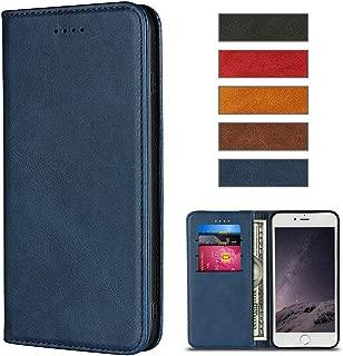 iPhone 8 ケース iPhone 7ケース 手帳型 高級TPUソフトスリム ケース アイフォン8ケース 男と女 アイフォン7手帳型ケース カード入れ横置きスタンド機能カードポケット スタンド機能 衝撃防止 全面保護 ストラップ通し穴 (iPhone 8/7 (4.7''), ブルー)