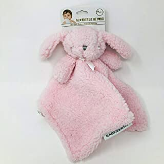 Blankets & Beyond Thick Plush Nunu Baby Security Blanket Lovey (Pink Bunny)