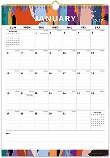 """Cabbrix Monthly Wall Calendar 2019, 16-4/5"""" x 11-4/5"""", Wirebound"""