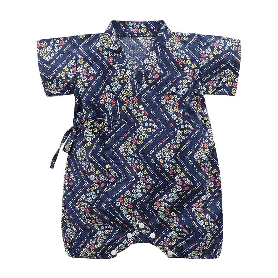 Shusuen_baby Kimono Robe Newborn Cotton Yarn Bodysuit Romper Infant Japanese Pajamas
