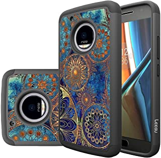 Moto G5 Plus Case, LEEGU [Shock Absorption] Dual Layer Heavy Duty Protective Silicone..