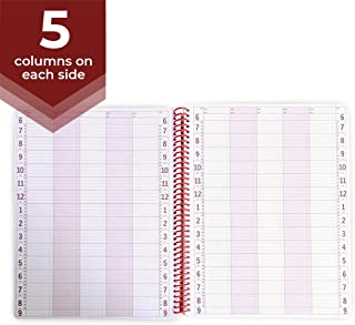 5 Column Undated Appointment Book – Five Person Daily and Hourly Schedule Notebook for Salons, Massage Spas, Hairdressers, Stylists, and More – 200 Pages