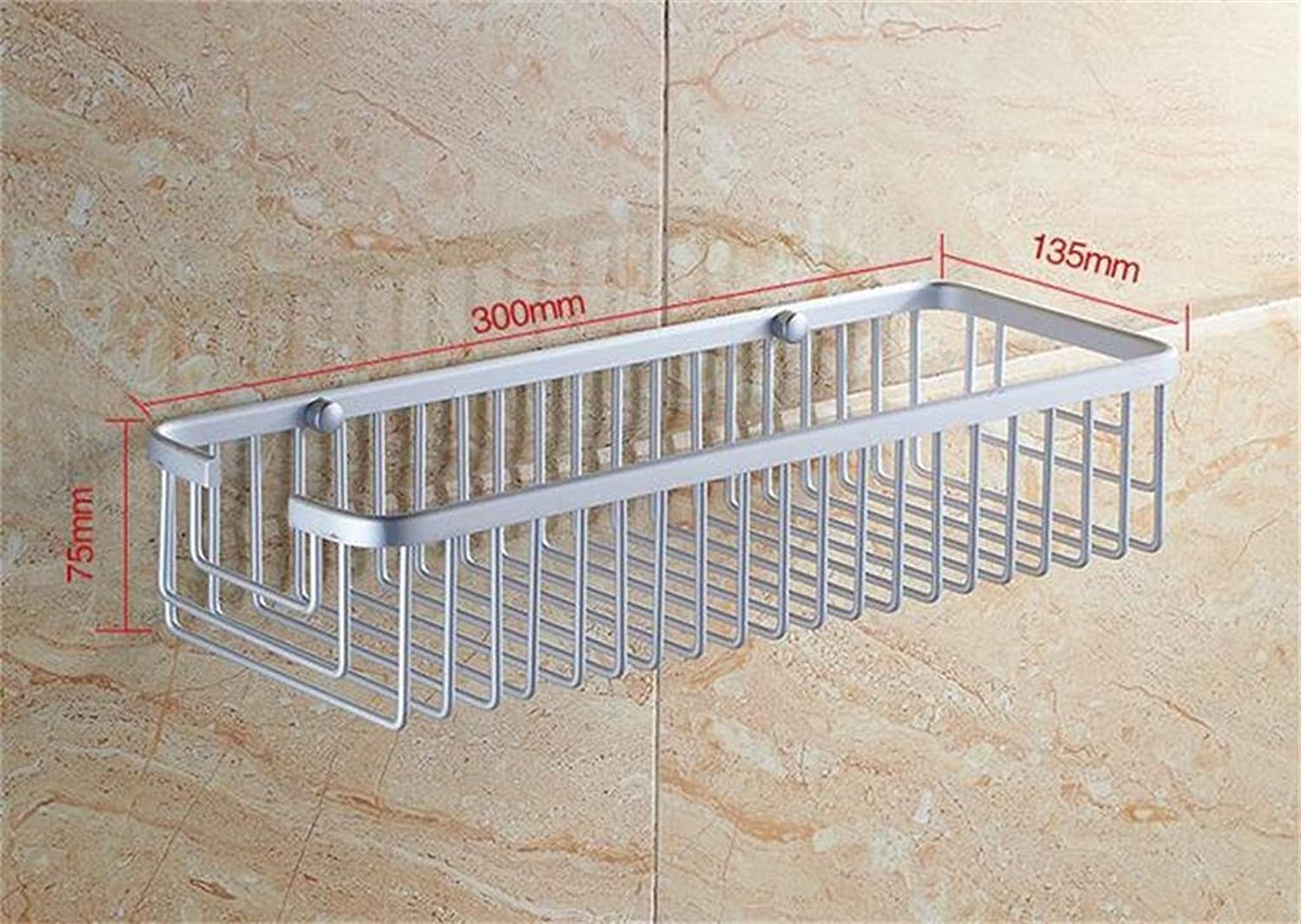 Space Aluminum Bathroom Racks Embedded Screw Racks Bathroom Shelf Kitchen Multifunction (color   2)