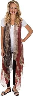 GreaterGood American Flag Handkerchief Long Vest