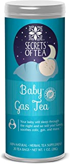 Secrets of Tea - Baby Gas Tea - USDA Organic- All Natural & Sanitized Herbal Tea - Helps Relieve Bloating, Indigestion, Gas, and Promotes Better Sleep - 20 Biodegradable Tea Bags