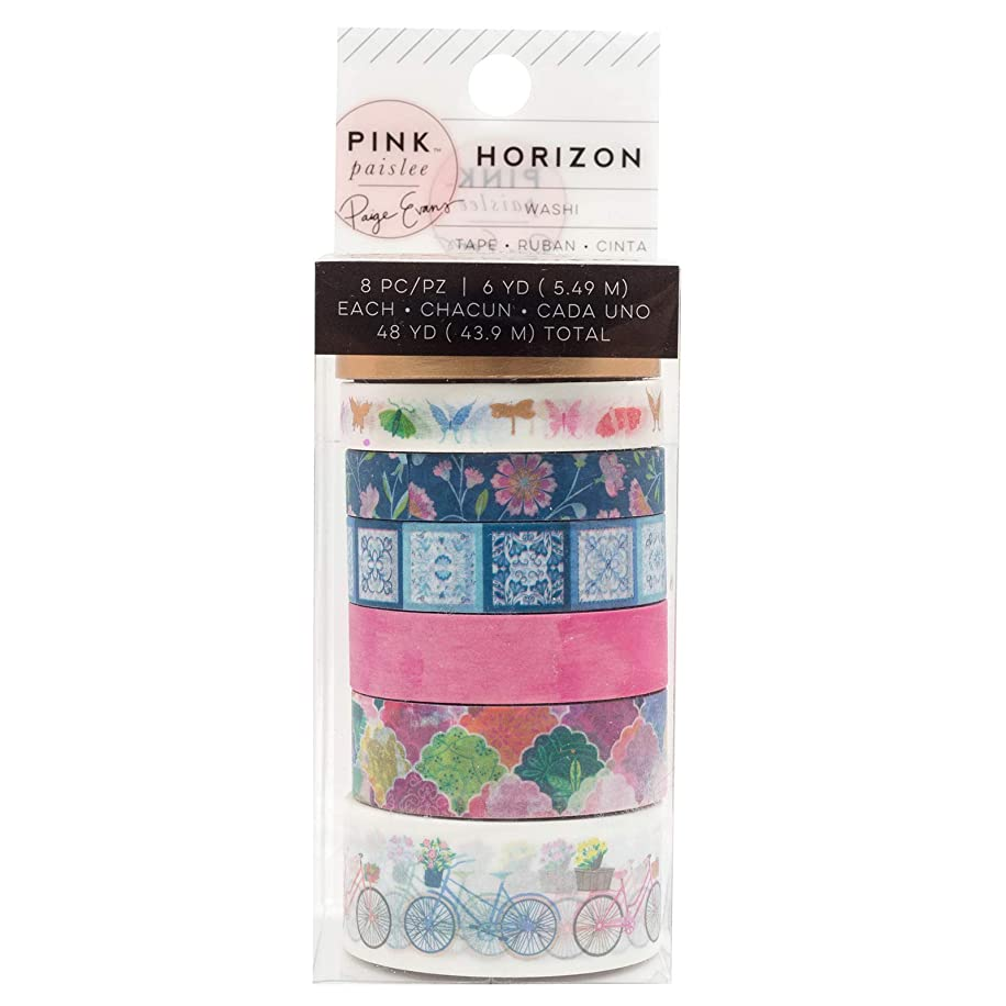 Pink Paislee 310794 Tap Washi Tape, Multi