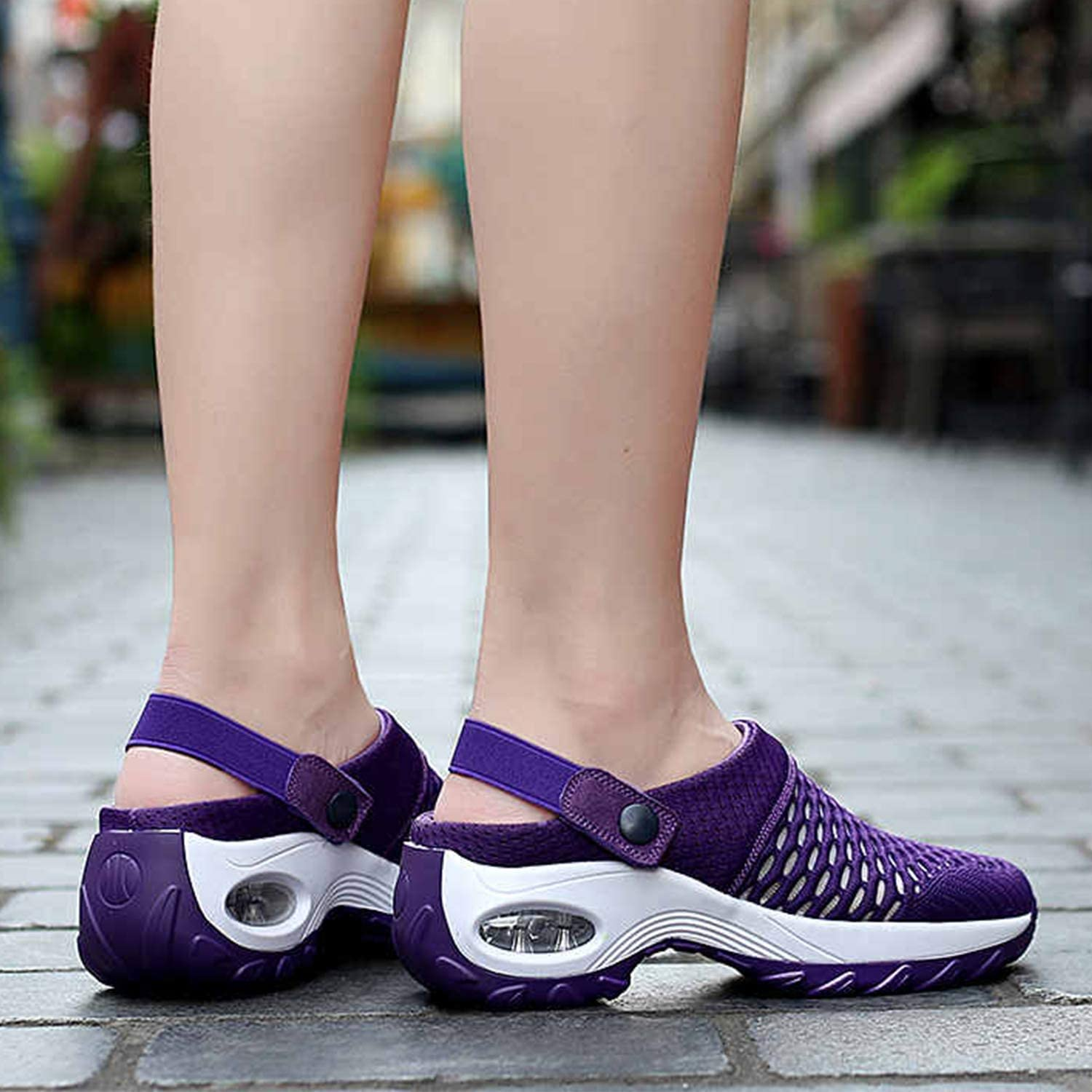 Sponge Cake Shoes Fresh and Breathable Platform Shoes Raised Breathable mesh Fabric Fresh Womens Sandals