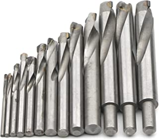 JIUWU 13pcs Tungsten Steel Cemented Carbide Twist Drill Bits, Metal Drill YG Alloy Blade, for Stainless Steel Copper Alumi...
