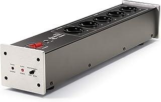 Dynavox HiFi-netfilter X2000, meervoudig stopcontact met 5 sleuven, met LED-controlelampje voor correcte fasen en mastersl...