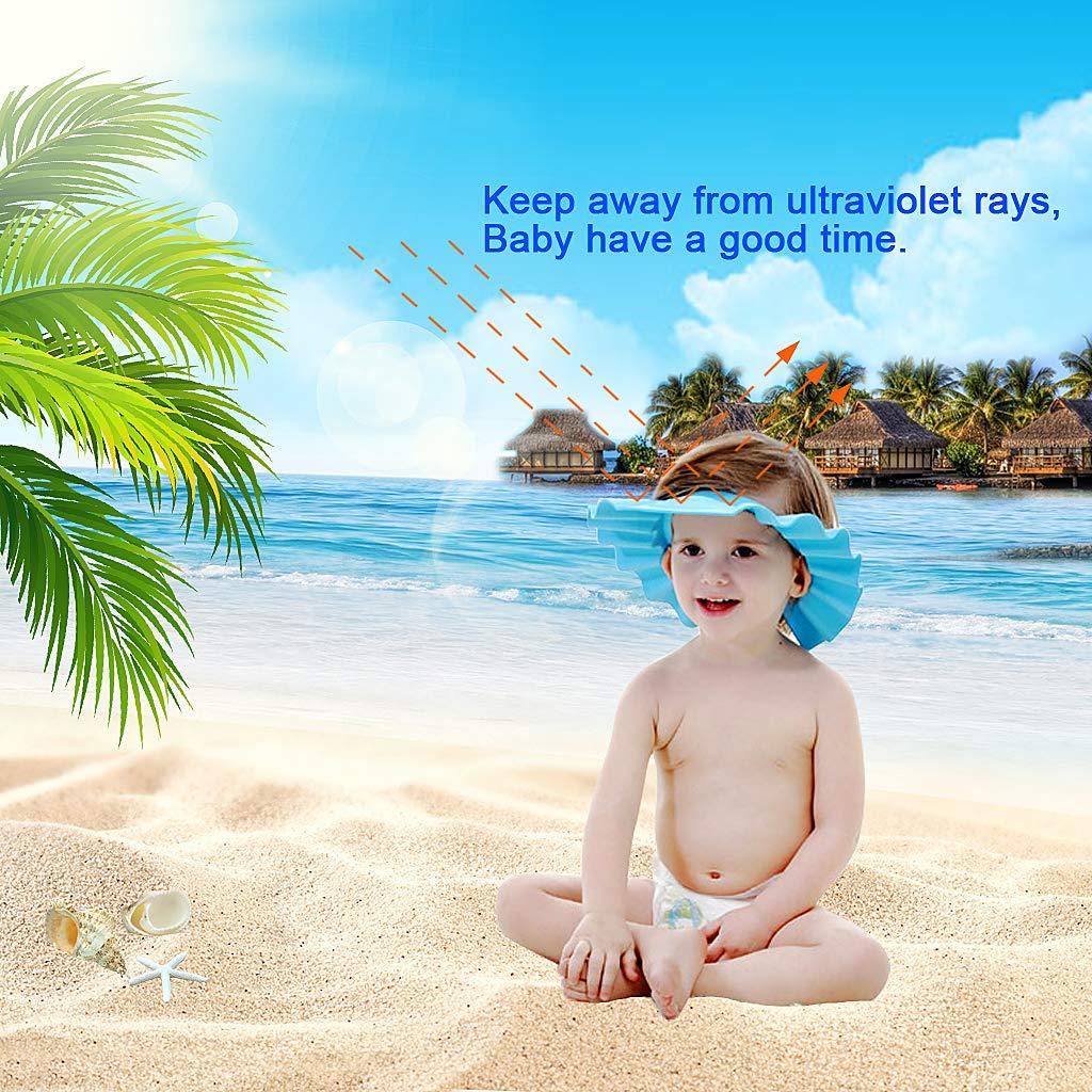 EWIN(R) 4pcs Soft Adjustable Baby Kids Children Shampoo Bath Bathing Shower Cap Hat Wash Hair Shield Hat