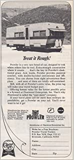 1972 Prowler Travel Trailer: Treat It Rough, Prowler Travel Trailer Print Ad