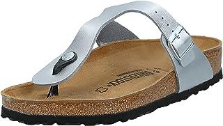 BIRKENSTOCK Gizeh, Women's Fashion Sandals, Silver, 5.5 UK (39 EU)