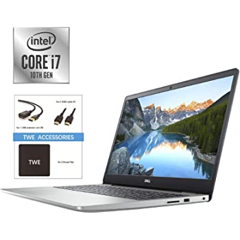 "Dell Inspiron 15 15.6"" FHD Anti-Glare Laptop, Intel Core i7-1065G7 up to 3.9GHz, 8GB DDR4, 512GB PCIe SSD, HDMI, Wireless-AC, Bluetooth, Webcam, Backlit Keyboard, Windows 10, TWE Accessory Bundle"