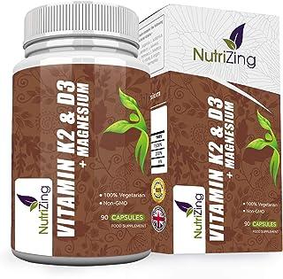 Combo 3 en 1: Vitaminas K2. D3 y Magnesio | Vitamina D3 3000IU. Vitamina K2 MK-7 150mcg. Magnesio 20mg | Apoya la absorción