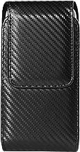 Black Universal Carbon Fibre Swivel Belt Clip Cell Phone Holster Compatible for Apple iPhone XS Max / 8 7 Plus / LG V40 ThinQ / Stylo 4 / Motorola Z3 Z2 Play / E5 G6 Plus / Nokia 7 Plus