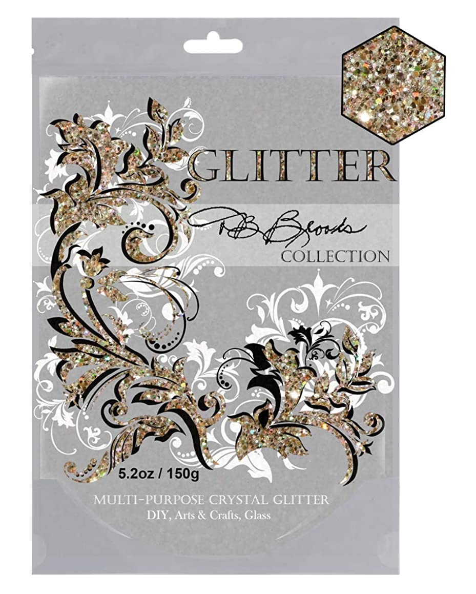 DB Brooks Collection (Gold/Iridescent) Multi-Purpose Crystal Glitter 150g/5.2oz Use for Arts & Craft, Scrapbooking Cards Glass Kids Paper Wedding in resealable Wide Mouth Easy to use Bags.
