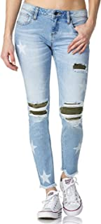 Women's at Attention Mid-Rise Ankle Skinny Jeans