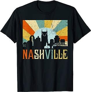 Nashville Shirt Vintage Retro Nashville Skyline Tennessee