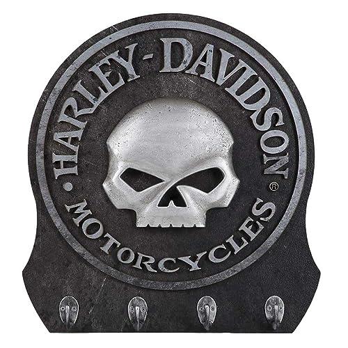 Harley-Davidson Sculpted 3D Willie G Skull Key Rack, Textured Finish HDL-15313