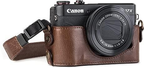 Megagear Canon PowerShot G7 X Mark Ii Pu Leather Camera Case, Dark Brown (MG952)