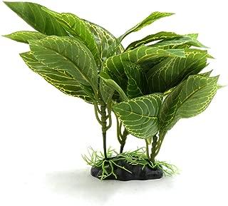 uxcell Green Plastic Terrarium Lifelike Plant Decor Ornament for Reptiles and Amphibians