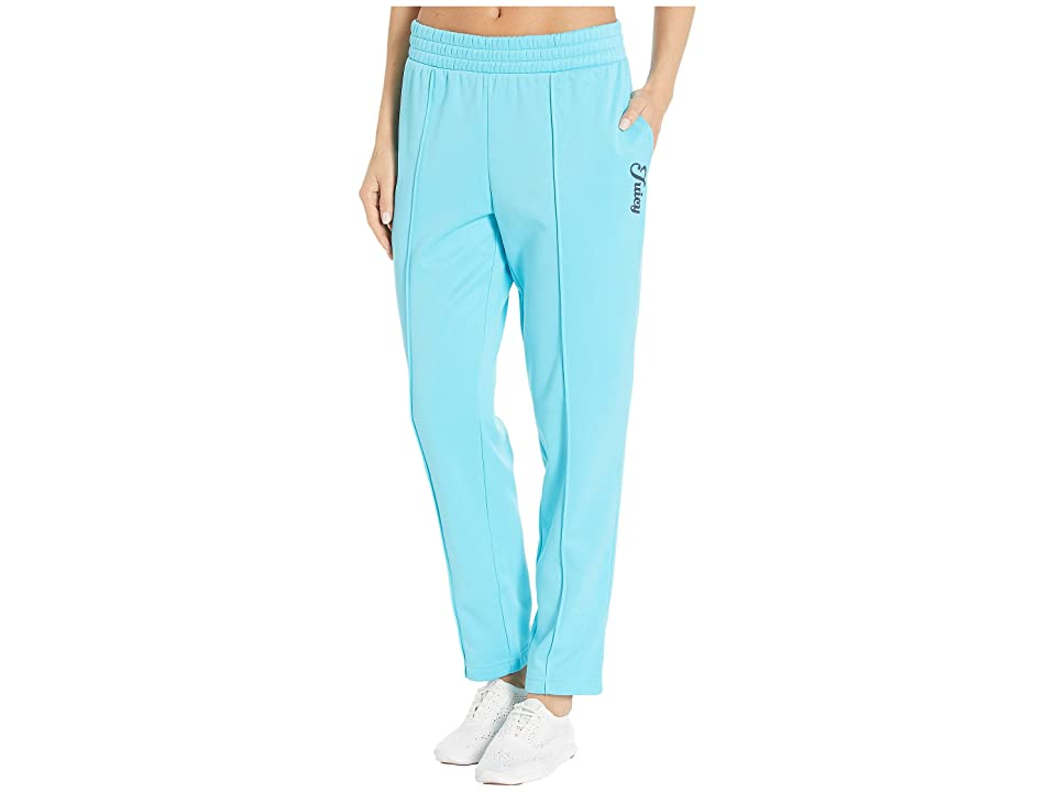 Juicy Couture Solid Tricot Track Pants (Jammer Blue) Women's Casual Pants