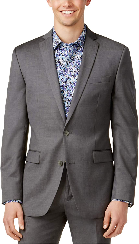 Bar III Slim Fit Blazer Dark Gray Pindot Wool New Men's Sport Coat