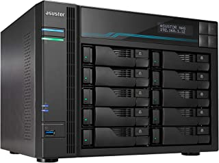 Asustor AS7110T | Lockerstor 10 Pro | Enterprise Network Attached Storage | 3.4GHz Quad-Core, One 10GbE Port, Three 2.5GbE...