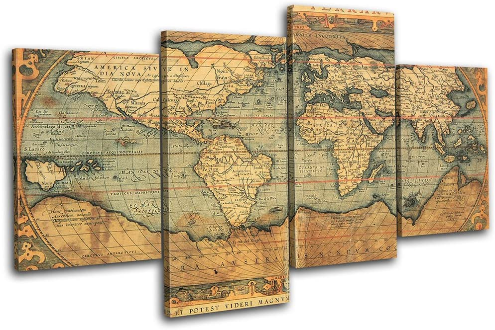 Bold Bloc 供え Design - Old World Flags Maps Can Multi 160x90cm 大好評です Atlas