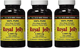 YS Eco Bee Farms Royal Jelly 2,000 mg - 75 capsules (Pack of 3)