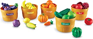 Learning Resources Farmer's Market Color Sorting Set, Play Food, Fruits and..