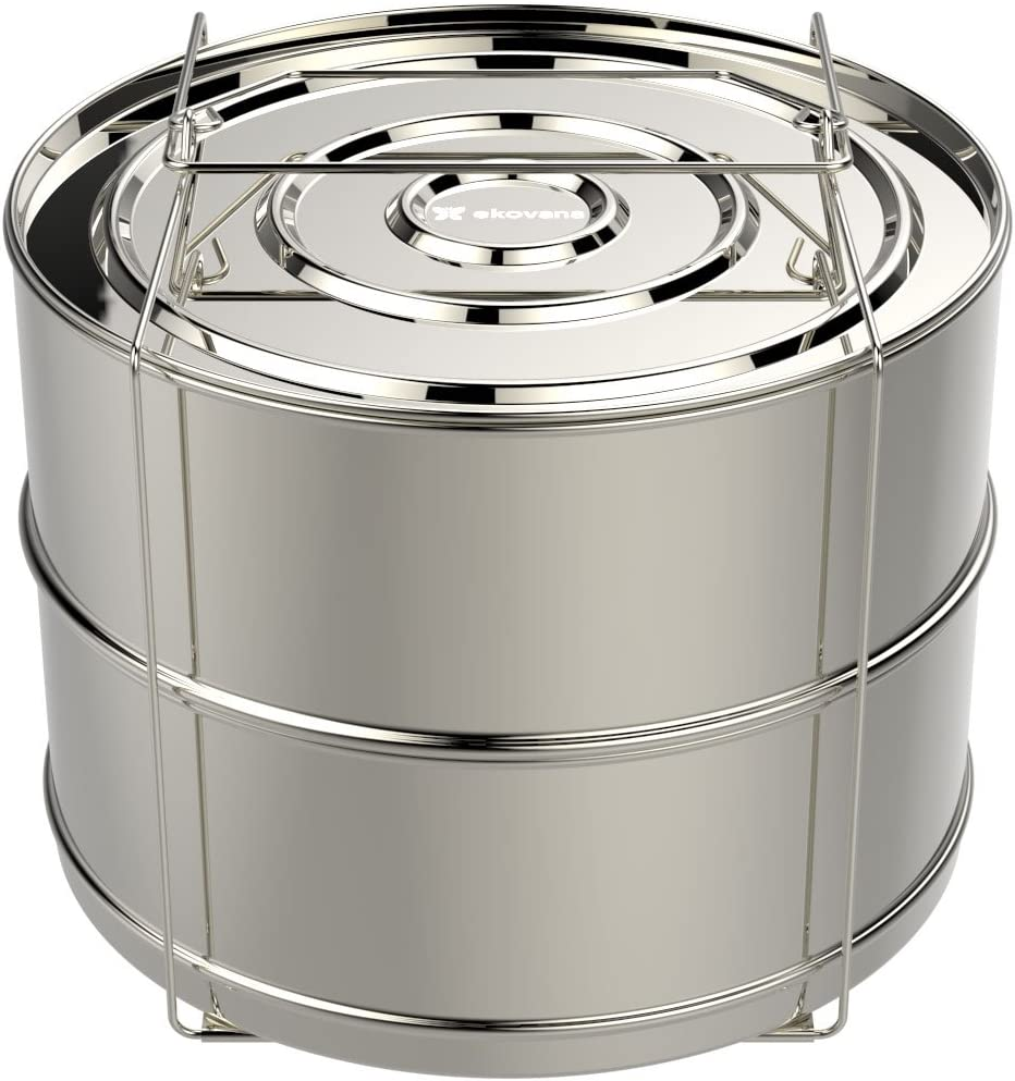 Quantity limited ekovana 8 qt Stackable Steamer Sales for sale Insert handle with - sling Pans c