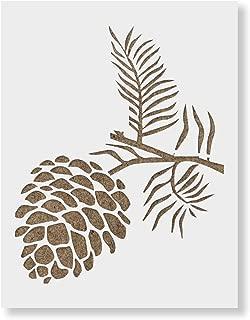 free pine cone stencils