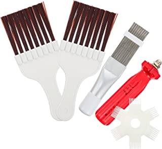 OSALADI 1 Set Air Conditioner Condenser Fin Comb Fin Cleaning Brush Refrigerator Coil Whisk Brush Cleaner Metal Fin Evapor...