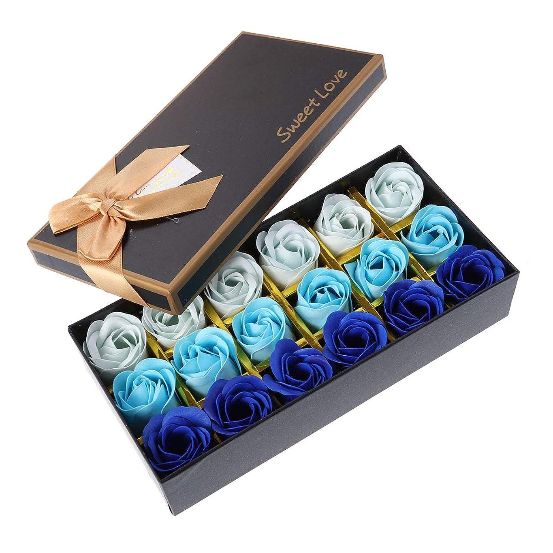 ジャケット発生する城Beaupretty バレンタインデーの結婚式の誕生日プレゼントのための小さなクマとバラの石鹸の花