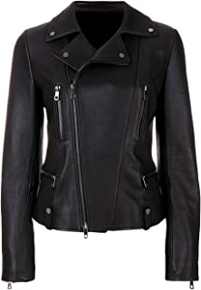 VearFit Women's Arebzona Black PU Faux Biker Motorcycle Moto Leather Jacket