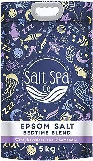 Tiefenschlaf Epsom Salz | Reinst 5KG Beutel| Salt Spa Co | Verfeinert mit ätherischen Ölen von Lavendel und Kamille | gegen Stress, entgiftet den Körper und beruhigt den Geist |